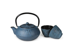 Japanese Style Cast Iron Teapot With Cups = Meguro - kitchen