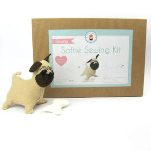 Make Your Own Pug Sewing Kit - gifts for children