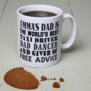 Personalised World's Best Dad Mug - father's day gifts