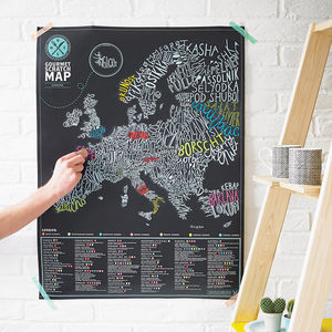 Gourmet Scratch Map - gifts for him