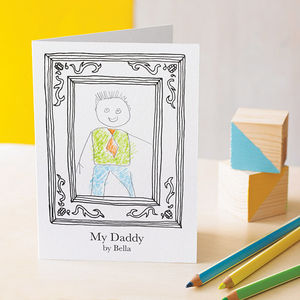 Personalised Daddy Frame Card - children's room