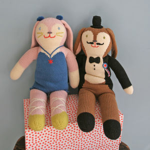 Balthazar And Mirabelle Knitted Dolls