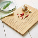 Personalised Recipe Chopping Board