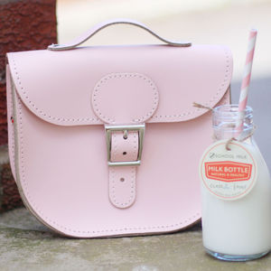 Personalised Small Leather Satchel - bags & purses