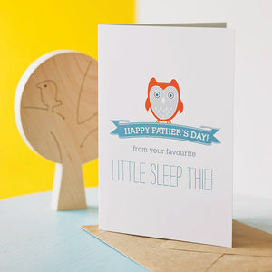 'Sleep Thief' Father's Day Card - funny cards