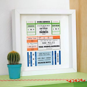 Personalised Concert Tickets Print - gifts for fathers