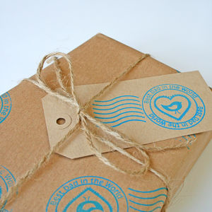 'Best Dad' Hand Printed Wrapping Paper - wrapping