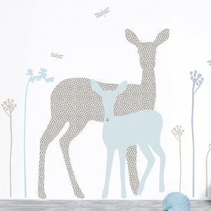 Deer And Fawn Nursery Wall Sticker