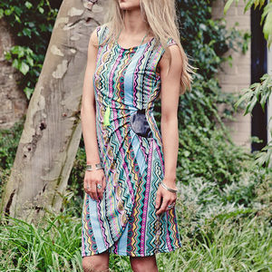 Aztec Print Bodycon Midi Dress - dresses