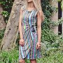 Aztec Print Bodycon Midi Dress