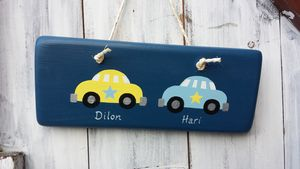 Car Door Sign For Twins - more