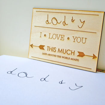 Your Child's Handwriting Wooden Postcard