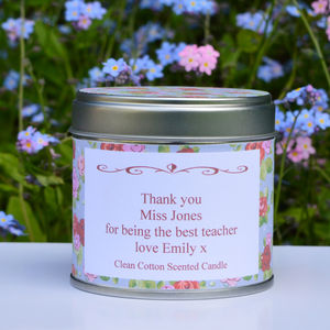 Personalised 'Thank You' Teacher Candle