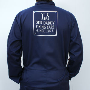 Personalised Our Mechanic Daddy Overalls - onesies