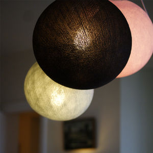 Circular Cotton Ceiling Lampshade - pendant lights