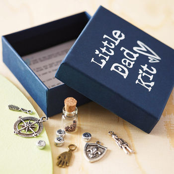 'Little Dad Kit' - showing open box with detail of charms