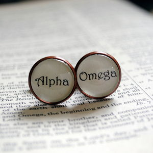 Alpha To Omega Cufflinks First And Last