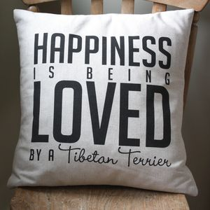 Personalised 'Happiness Is…' Cushion