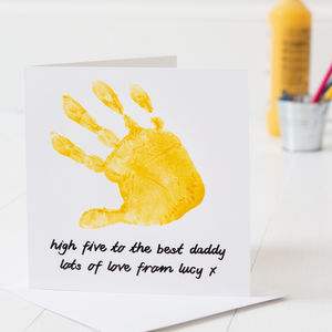 Personalised Hand Print Father's Day Card