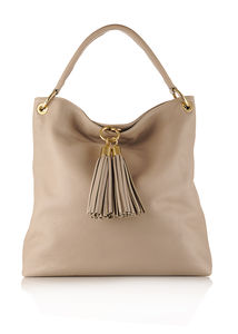 The Petersham Leather Handbag - shoulder bags
