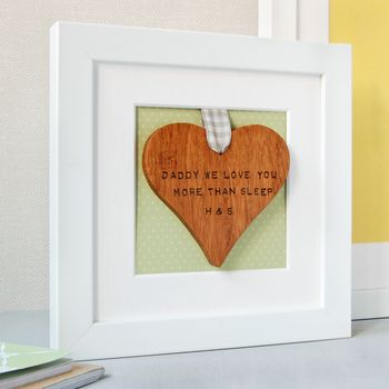 Personalised Framed Wooden Heart