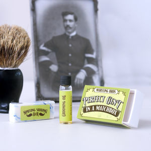 Men's Grooming Gift Set In A Matchbox