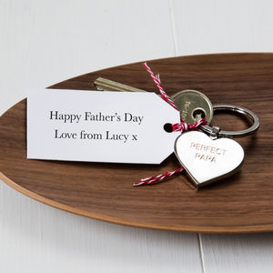 Personalised Father's Day Keyring And Tag