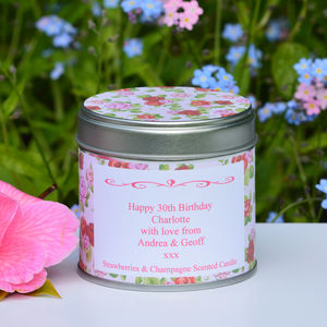 Personalised 'Birthday' Scented Candle - occasional supplies