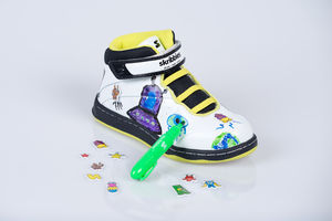 Neon/Black Customisable Whiteboard Trainers
