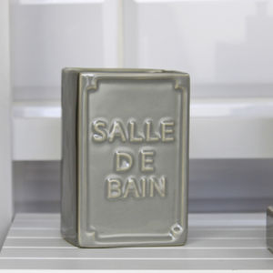 Grey Salle De Bain Toothbrush Holder - storage & organisers