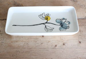 Hand Painted Porcelain Serving Dish