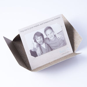 Personalised Photo Wallet Keepsake