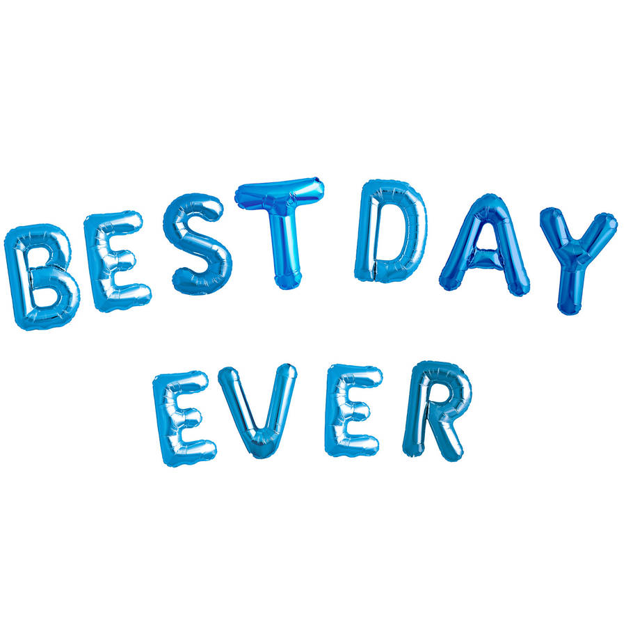 best day ever balloon letters by bubblegum balloons. Black Bedroom Furniture Sets. Home Design Ideas