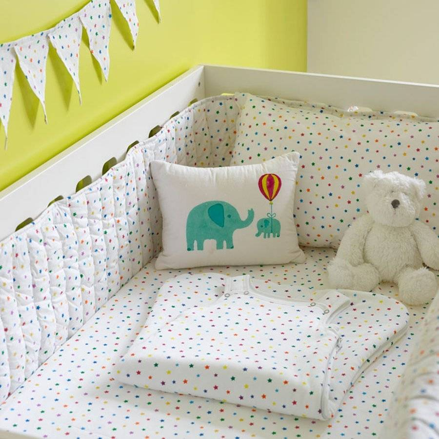 Gentil Multicolour Star Cot Bed Fitted Sheet