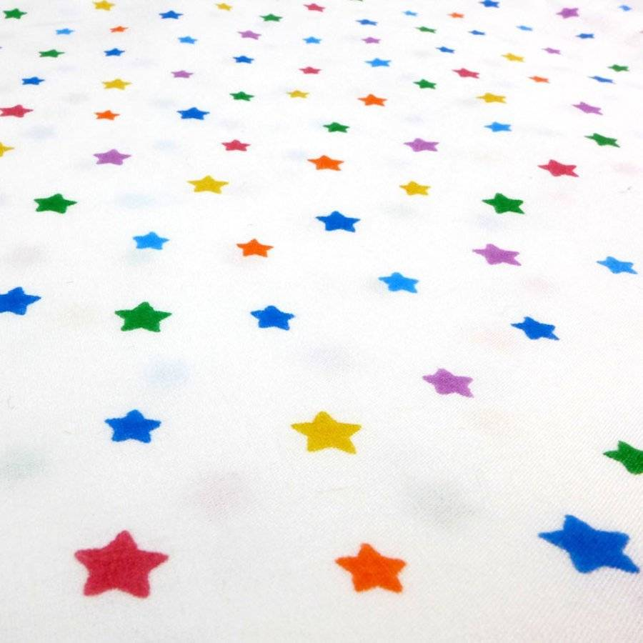 Attirant Multicolour Star Cot Bed Fitted Sheet
