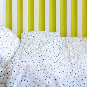 Multicolour Star Toddler Cot Bed Duvet Set - cot bedding