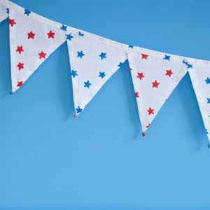 Blue And Red Star Bunting
