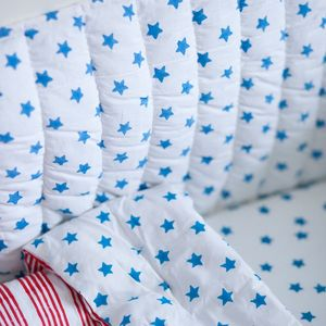 Blue Star Cot Bed Bumper - baby's room
