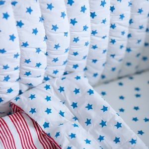 Blue Star Cot Bed Fitted Sheet - bed linen