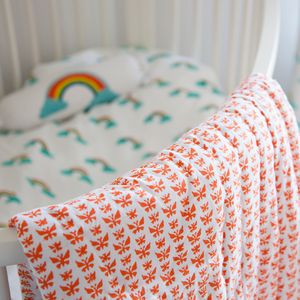 Butterfly Baby Cot Quilt - children's room