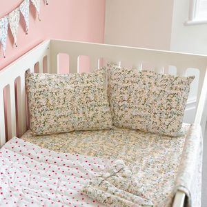 Floral Cot Bed Fitted Sheet - cot bedding