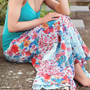 Tiered Cotton Gypsy Skirt - women's sale
