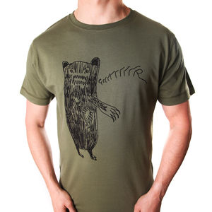 Men's Grrrrrr Bear T Shirt - autumn hues: for him