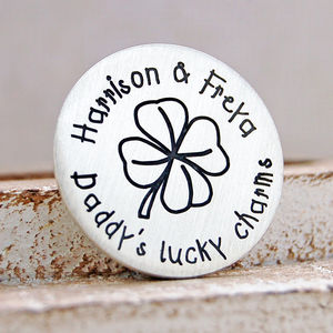 Lucky Charms Silver Golf Ball Marker