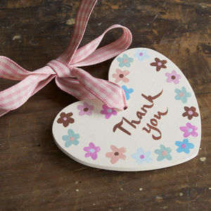 Personalised Wooden Thank You Heart - hanging decorations