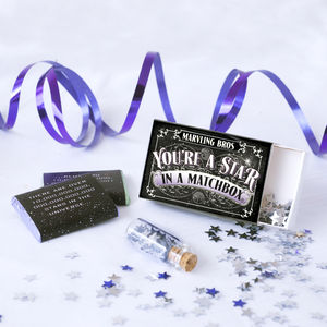 'You're A Star' Chocolate Gift In A Matchbox - stocking fillers