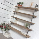 Roger Reclaimed Scaffolding And Dark Steel Shelving