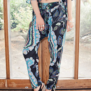 Harem Peg Trousers - women's fashion