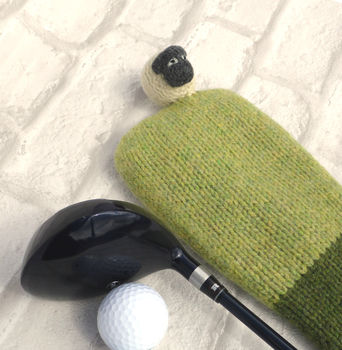Personalised Sheep Golf Club Cover