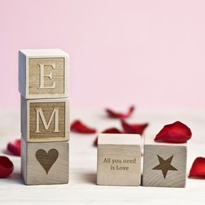 Personalised Artisan Blocks - traditional toys & games